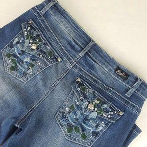 Earl Jeans Cropped Blue Jean Capris  Size 10